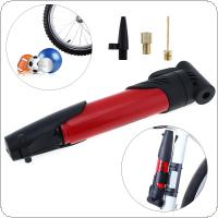 Mini Portable Multifunctional Bicycle Tire Air Pump Inflator with High-strength Plastic for Bicycle Wheel / Ball