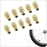 10pcs/lot Zinc Alloy Presta to Schraeder Valve Bicycle Pump Converter Adapter Change Head with Reticulate for Air Inflator