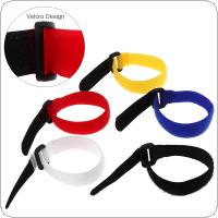 5pcs Nylon Adhesive Tape Cycling Bicycle Pump Bottle Straps for Handlebar Flashlight Inflator