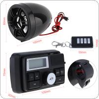 12V 7W Waterproof Anti-theft Sound MP3 Player with Display Screen for Motorcycle / Electric Vehicle
