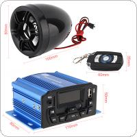 12V 20W Waterproof Anti-theft Sound MP3 Player with Display Screen for Motorcycle and Electric Vehicle