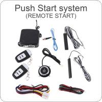 Universal 12V Smart Auto Car Alarm Engine Starline Push Button Start Stop RFID Lock Ignition Switch Keyless Entry System Starter Anti-theft System