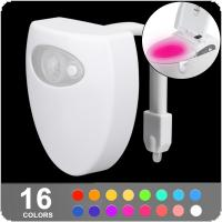Smart 5V USB Charge 8 Color PIR Motion Sensor Bathroom Toilet Night light Seat Sensor Lamp Body Motion Activated with On / Off