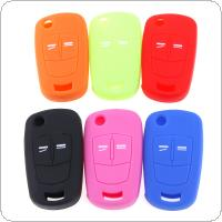 6 Colors 2 Buttons Silicone Flip Folding Car Key Cover Fit for Vauxhall  Opel Corsa  Astra  Vectra  Signum