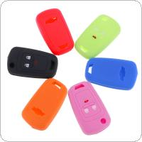 6 Colors 3 Buttons Silicone Car Remote Key Cover Case Fit for Chevrolet Cruze  Spark  Onix Silverado  Volt  Camaro  Aveo  Sonic