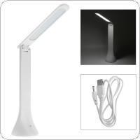 18 SMD3014 LED Portable Folding Dimmable Touch Table Lamp with USB Charging for Reading