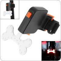 Waterproof  COB LED Bone Shape USB Rechargeable Bicycle Red Rear Light  with 5 Lighting Modes for Bicycle