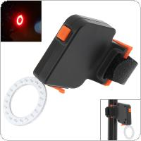 Waterproof  COB LED Round Shape USB Rechargeable Bicycle Red Rear Light  with 5 Lighting Modes for Bicycle
