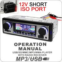 12V Bluetooth Car Radio MP3 Player Vehicle Stereo Audio Support FM / USB / SD / AUX with Remote Control