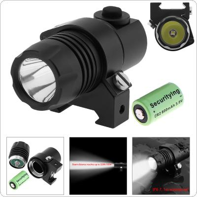 Securitylng Waterproof G05 XP-G R5 LED 210LM Tactical Flashlight Military Weapon Lights with 2 Modes Light + CR2 3V 800mAh Lithium Battery