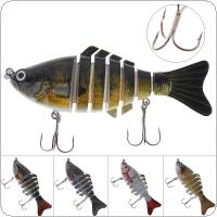 10cm 15.4g 7 Segments Fishing Lure with Hard Structure and 2 Hooks for Fishing