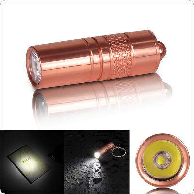 Waterproof Portable Brass M18 XP-G2 R5 5W 200 Lumens Mini LED Light Torch Flashlight with Micro USB Charge By 3.7V 10180 Battery Support Underwater 2M