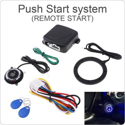 Universal 12V Auto RFID Car Alarm System and Warded lock Anti-theft Push Start System