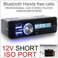 1010BT 12V Car Stereo Radio Bluetooth MP3 Player Support Remote Control / FM / Aux Input / SD / USB