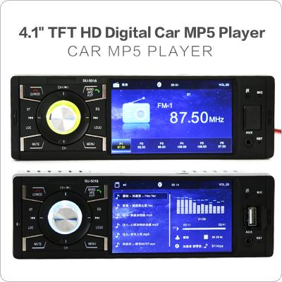12V 4.1 Inch 1 Din Bluetooth HD Car Stereo Radio  MP3 MP5 Player Support USB / FM / TF / AUX In