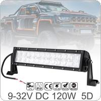 12 Inch 120W Car LED Worklight Bar 24x 5D CREE Chips Combo Offroad Light Driving Lamp for Truck SUV 4X4 4WD ATV