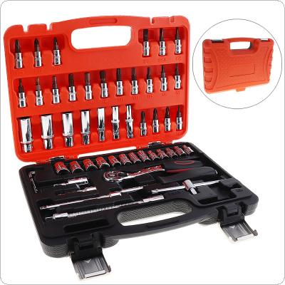 53pcs Automobile Motorcycle Car Repair Tool Box Precision Fast of Ratchet Torque Wrench Combo Tools for Car Auto Repairing