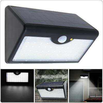Super Bright Upgraded 60 LED Rechargeable Solar Power PIR Motion Sensor Wall Light with Five Modes In One Solar Lamps for Garden / Home / Street