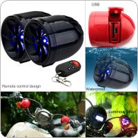 AOVEISE MT483 1 Pair 14W Motorcycle Waterproof Anti-theft MP3 Speaker Support Audio Input and USB / TF for Motorcycle and Scooter