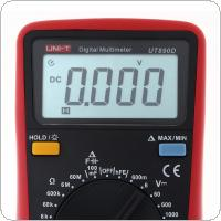 UT890D LCD Display 5999 Counts Portable Hand-hold High Precision Digital Multimeter with Backlight Support Overload Protection