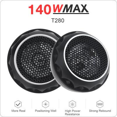 2pcs 140W T280 Car Horn Dome Tweeter Audio Loudspeaker Car Stereo Treble Speaker for Cars