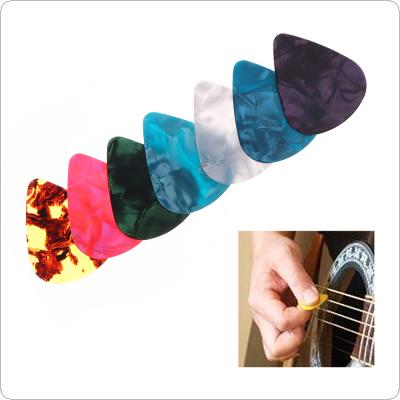 Colorful Guitar Picks Multicolor ABS Plectrum Plucked String Instrument Accessories for Acoustic Bass Electric Guitars