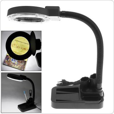 5W High Brightness 929A 30 LEDs Magnifying Crafts Glass Desk Lamp with 5X - 20X Magnifier And Pen Holder for Electronic Detection / Jewelry Identification