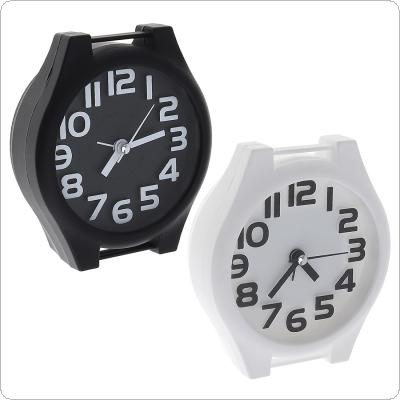 Cartoon Watch Shape Candy Color Creative Children's Bedside 3D Stereoscopic Mute   Small Alarm Clock Support AA Battery