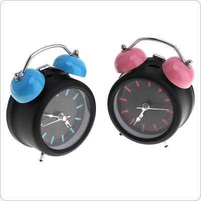 3 Inch Fashion Cute Metal Round Bell Alarm Clock with Color Bells Support AA Battery