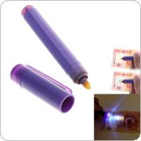 Mini Portable Combo Magical Lottery Pen with Checking Special LED Water Multi-functional Banknot for Checking Fake Money