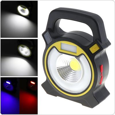 Portable Waterproof 5W COB LED 2400LM Work Lights Emergency Lamp with 4 Modes Light And Power Indication for Site / Outdoors / Camping