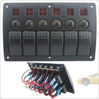 Plastic Panel Switch and Red Single Bar Switch Combination Panel with PCB and Overload Protector for Yacht / Ship / RV