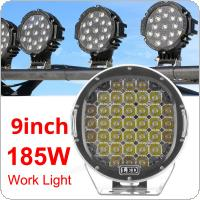 9 Inch 185W 6000K Work Driving Lights Spot / Flood light HID Vehicle Driving Lights for Offroad SUV / ATV / Truck / Boat