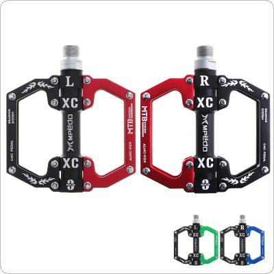 3 Bearings Ultralight Bicycle Pedals Aluminum Body Axle Cycling Pedals Sealed with Anti-skid Nails for Mountain Bike