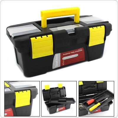 Small Portable Plastic Hardware Tool box with Storage Box and Black for Home or Outdoor Finishing Debris