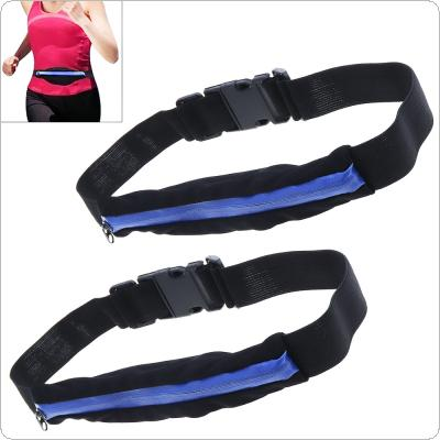 2pcs Invisible Waist Bag Women Running Bag Belt Case Running Accessories Fanny Pack with Single Pocket for Phone / Money
