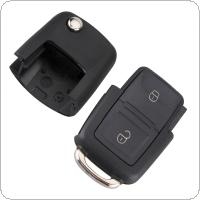 Black 2 Buttons Smart Remote Replacement Key Case No Chip for Volkswagen B5