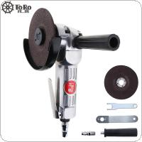 TORO-6040 4 Inch High-speed Pneumatic Angle Grinder with Disc Polished Piece and PVC Handle for Machine Polished / Cutting Operation