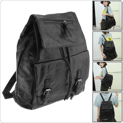 Fashion Woman's PU Leather Backpack with Shoulders Strap for Students School Travel