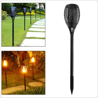 Waterproof Outdoor 96 LEDS Solar Energy Light Halloween Christmas Lights with Torch Shape And Light Sense Automatic Mode for Garden / Home Lighting