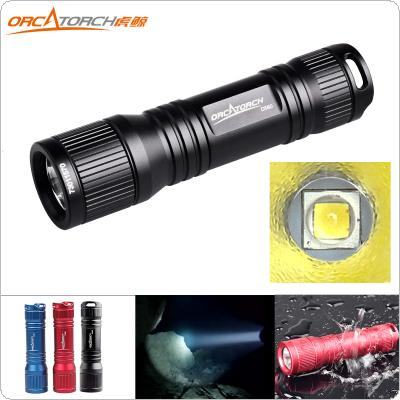 ORCATORCH D560 Waterproof Diving Flashlight 630 Lumens CREE XM-L2 U2 LED with O-Ring and Hand Rope for Professional Diving