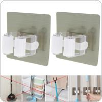 2pcs Max Loading 5KG Single Boxed Wall Mounted Broom Holder for Wall Mop Holder