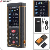 SW-S70 70M Portable Multi-function Laser Distance Meter with Lofting Function and Universal Horizontal Bubble Function Support Computer Connection