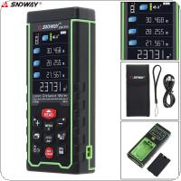 SW-S50 50M Portable Multi-function Laser Distance Meter with Lofting Function and Universal Horizontal Bubble Function Support Computer Connection