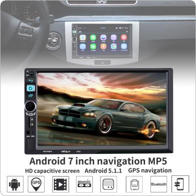 7 Inch 2 Din Bluetooth Android 5.1 ROM 16G RAM 1G  HD Car Stereo MP5 Player Support GPS / WiFi / Rear View Camera