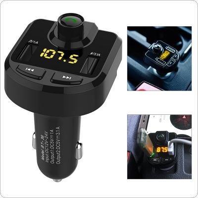 BT36 Bluetooth Car MP3 Music Player Kit Auto Radio Audio Stereo Player Hands-free FM Transmitter with Dual USB Micro SD TF