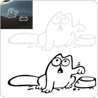 16 x 10CM Reflective Material Cat Pattern Creative Funny Car Sticker Accessories for Cars Fuel Tank