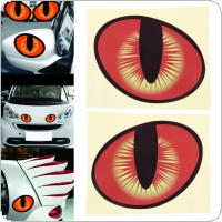 2pcs 10 x 8CM 3D Eye Pattern Reflective Material Creative Funny Stereoscopic Car Sticker Accessories
