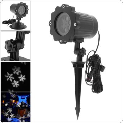 Outdoor Waterproof LED Projector Light with Stand and Snowflake Effect for Christmas / Stage Decoration
