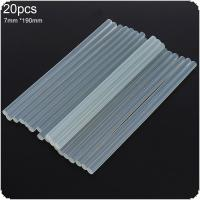 20pcs/set 7mmx190mm Transparent Hot-melt Gun Glue Sticks Gun Adhesive DIY Tools for Hot-melt Glue Gun Repair Alloy Accessories